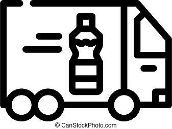 delivering oil truck line icon vector illustration