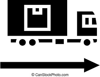 delivering truck glyph icon vector illustration