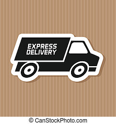 Delivery - abstract delivery symbol on a special background