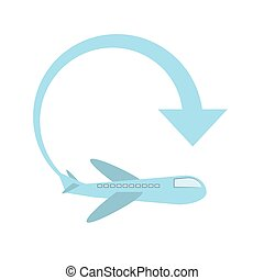 delivery airplane worldwide service vector illustration eps...