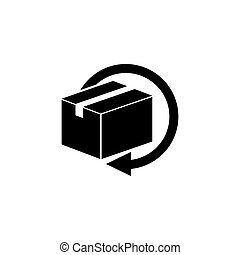 Delivery and Free Return Gifts or Parcels Flat Vector Icon