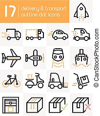 Delivery and Transport Line Icons