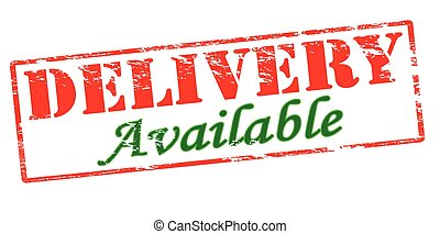 Delivery available - Rubber stamp with text delivery...