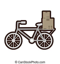 delivery bicycle box distribution