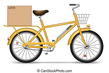 Delivery bicycle vector illustration - Realistic vector...