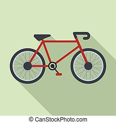 Delivery bike icon, flat style