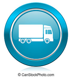 delivery blue icon truck sign