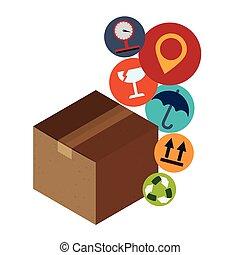 Delivery box design.