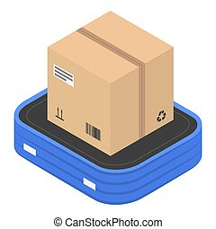 Delivery box icon, isometric style
