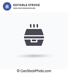 Delivery Box icon vector, filled flat sign, solid pictogram isolated on white, logo illustration. Delivery Box icon for presentation.