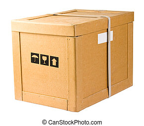 Delivery box. Isolated