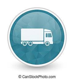 Delivery brillant crystal design round blue web icon.