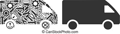 Delivery Car Composition of Service Tools