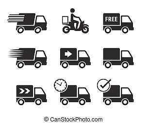 Delivery car icons