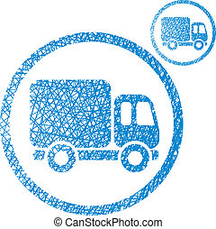 Delivery car small truck vector simple single color icon...