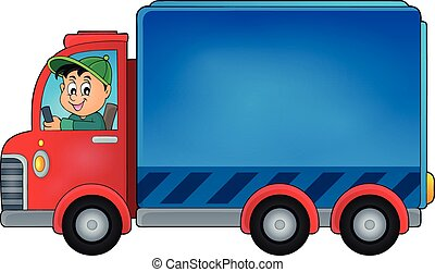 Delivery car theme image 1