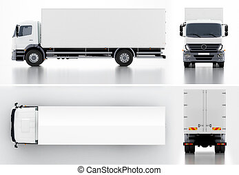 Delivery / Cargo Truck 3d render