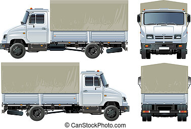 delivery / cargo truck Available EPS-10 separated by groups...