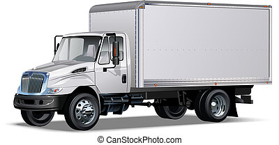delivery / cargo truck Available EPS-10 separated by groups ...