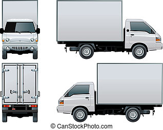 delivery / cargo truck - Available EPS-8 vector format...