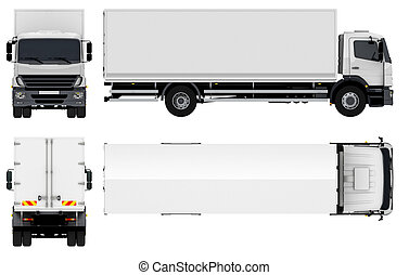 Delivery / Cargo Truck isolated on white background
