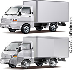 Delivery / Cargo Truck infographics cutaway Available EPS-10...