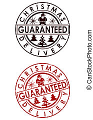 Delivery - Christmas delivery guaranteed stamp
