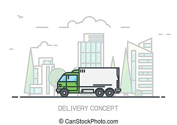 Delivery city truck