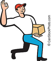 Delivery Courier Deliver Package Cartoon