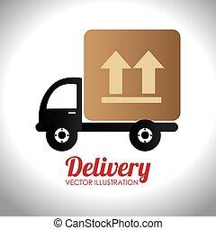 Delivery design over white background vector illustration -...