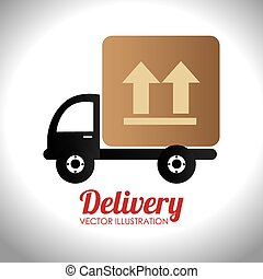 Delivery design over white background vector illustration - ...