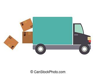 Delivery design, vector illustration