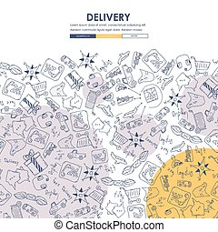 delivery Doodle Website Template Design