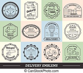 Delivery Emblems Set