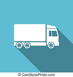 delivery flat icon truck sign