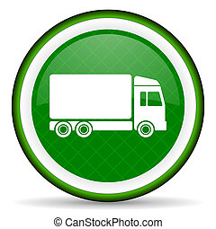 delivery green icon truck sign