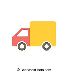 Delivery icon (flat design)