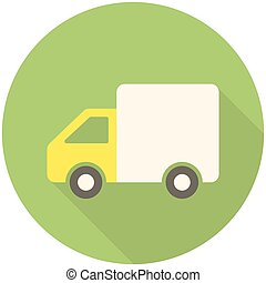 Delivery icon (flat design with long shadows)