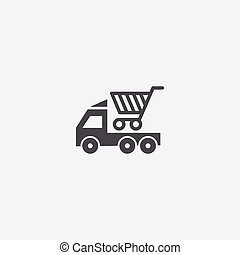 delivery icon, isolated, white background