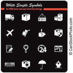delivery icon set - delivery vector icons for user interface...