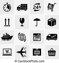 Delivery icons - Logistic and delivery icons set