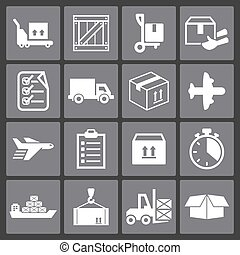 Delivery icons - Delivery web interface commerce icon set