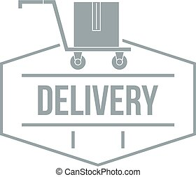Delivery logo, simple gray style