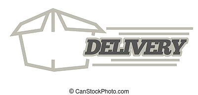 Delivery logo template . Vector isolated icon for post mail