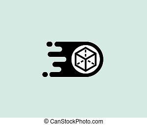 Delivery logotype. Box post vector logo design.