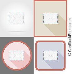 delivery mail flat icons vector illustration