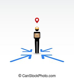 Delivery man, anywhere service. - Messenger, delivery man,...