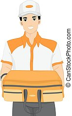 Delivery Man Carrying Bag