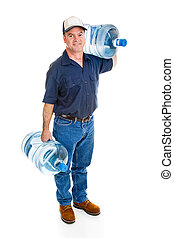 Delivery Man Carrying Water