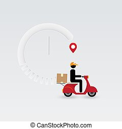 Delivery man, delivery service. - Messenger, delivery man...